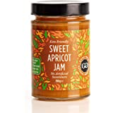 Sweet Apricot Jam by Good Good - 12 oz / 330 g - No Added Sugar Apricot Jam - Vegan - Gluten Free - Diabetic (Apricot) but is: Good Good Jam with Stevia - Apricot 330g