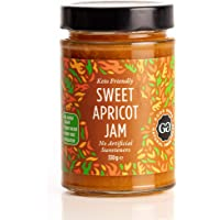 Sweet Apricot Jam by Good Good - 12 oz / 330 g - No Added Sugar Apricot Jam - Vegan - Gluten Free - Diabetic (Apricot…
