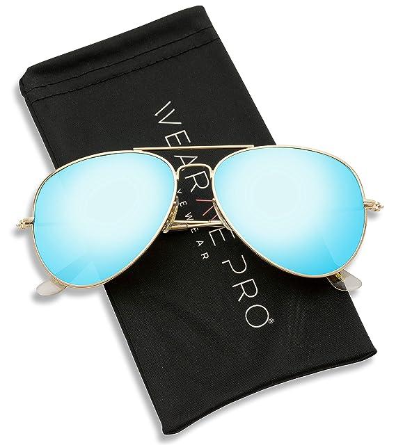 914ad1bfe3 WearMe Pro Aviator Full Color Plateado Espejo metal gafas de sol:  Amazon.es: Ropa y accesorios