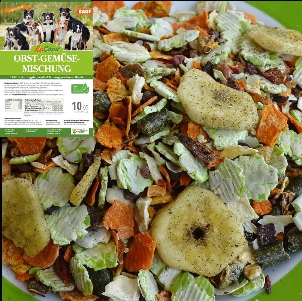 LuCano 20 kg Hunde Barf Ergänzungsfutter Obst + Gemüse Flocken mit