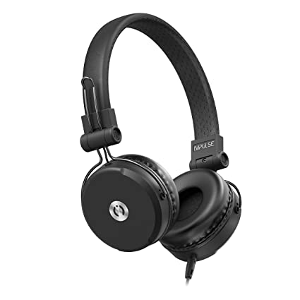 679a0ec46a6 MuveAcoustics Impulse Wired On-Ear Headphones with Microphone (Steel  Black): Buy MuveAcoustics Impulse Wired On-Ear Headphones with Microphone  (Steel Black) ...