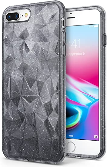 Funda TPU Ringke Air Prism 3D glitter iPhone X transparente