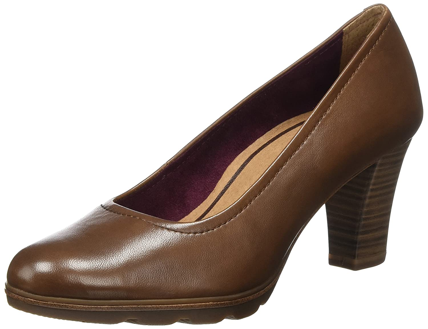 Tamaris Damen 22425 Pumps Braun (Cognac) 35 EU: