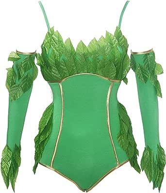 Bslingerie Poison Ivy - Body de Peluche, Color Verde: Amazon.es ...