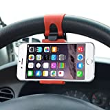 Suporte Veicular de Volante Para Celular, Smartphone, Iphone, GPS - VexDrive Cinza