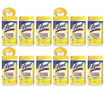 Lysol desinfección toallitas, limón y Lima Blossom, 960 ct