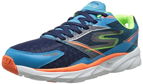 Skechers Go Run Ride 4, Zapatillas de Deporte Hombre, Azul/Naranja (Blue/Orange), 46: Amazon.es: Zapatos y complementos