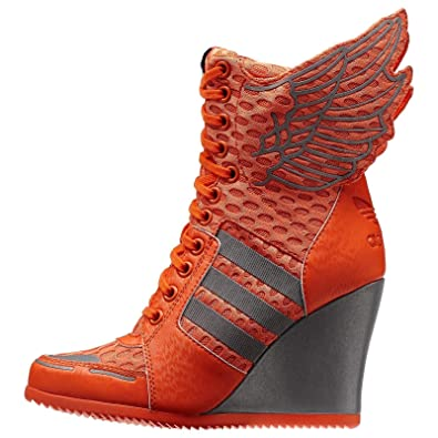 newest collection 33fcf e4646 adidas Originals ObyO Jeremy Scott JS Athletic Wings Wedge Orange D65703  Women's Boots (Size 5.5