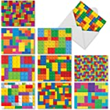 M2068 Leggo My...: 10 Assorted Thank You Note Cards Feature Kids' Favorite Building Blocks, w/White Envelopes.