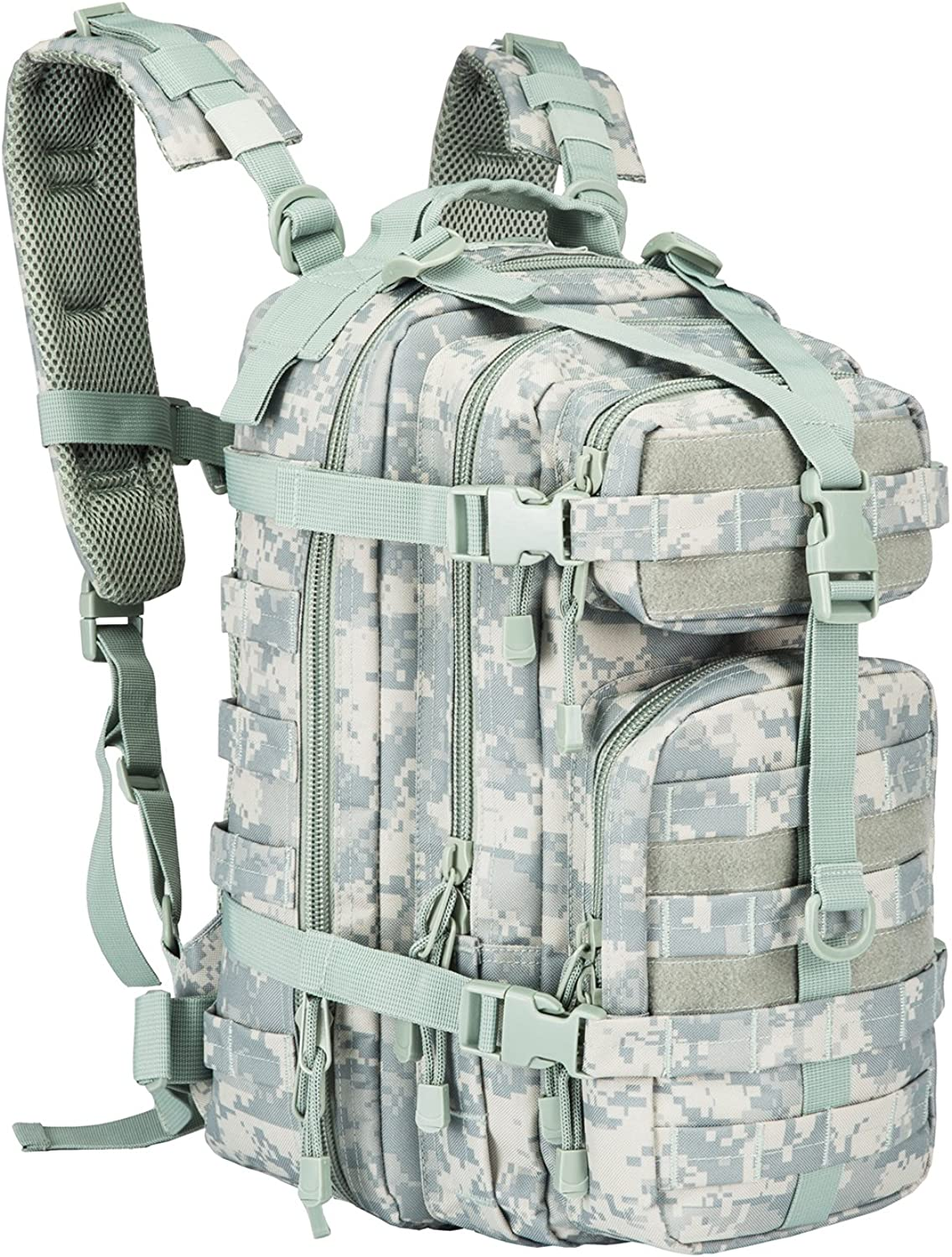 LHI Small Military Backpack Tactical 30L Back Pack for Men and Women Heavy Duty Army Assault Outdoor School Daypack Tan