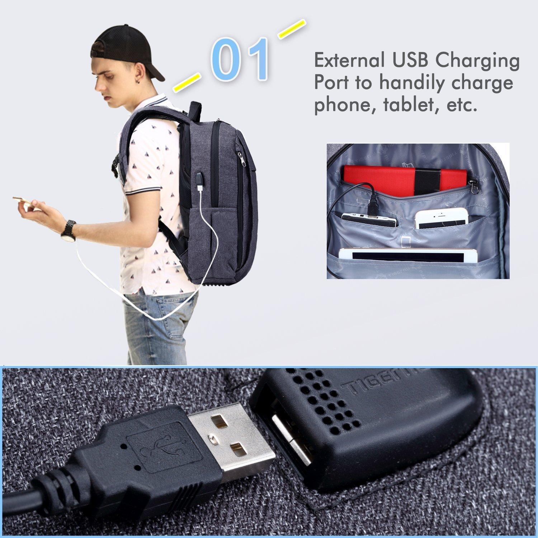 uoobag ligero negocios mochila para portátil 15.6 pulgadas con cargador USB: Amazon.es: Electrónica