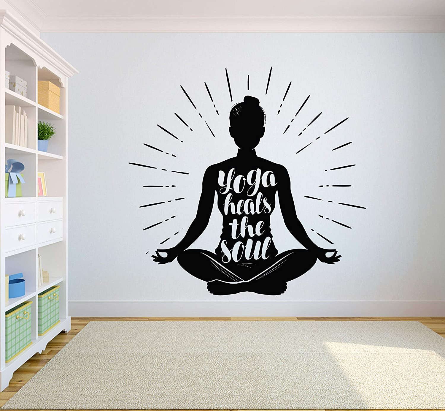 Amazon.com: Yoga Wall Decal Quotes Namaste Decals Lotus ...