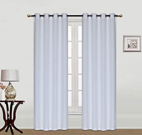 ecm. Home Curtains Solid Linen Wide Window Curtain Panel Pair with Grommet Top 2pc 63 84 95 108 inch Window Treatment White, 2pc 54×108