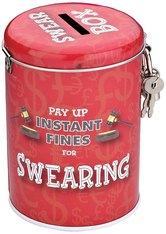 Boxer Gifts - Hucha de lata con candado, diseño con texto en inglés BB6011 56577872151