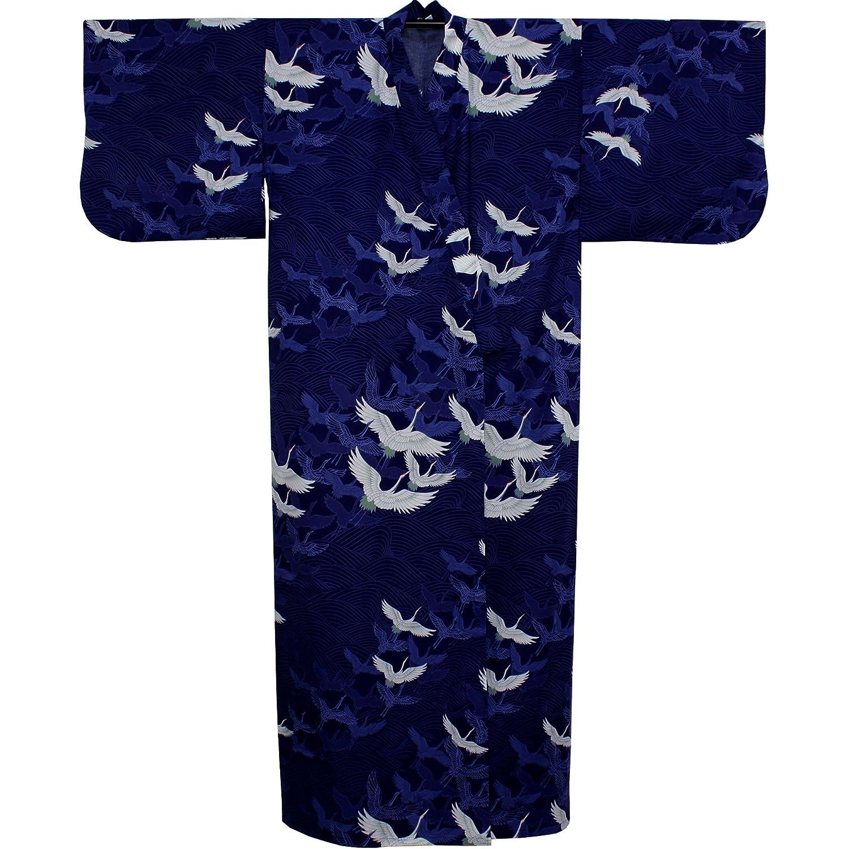 Kimono, Damen,Ki-528-02-56 Yukata Kranich