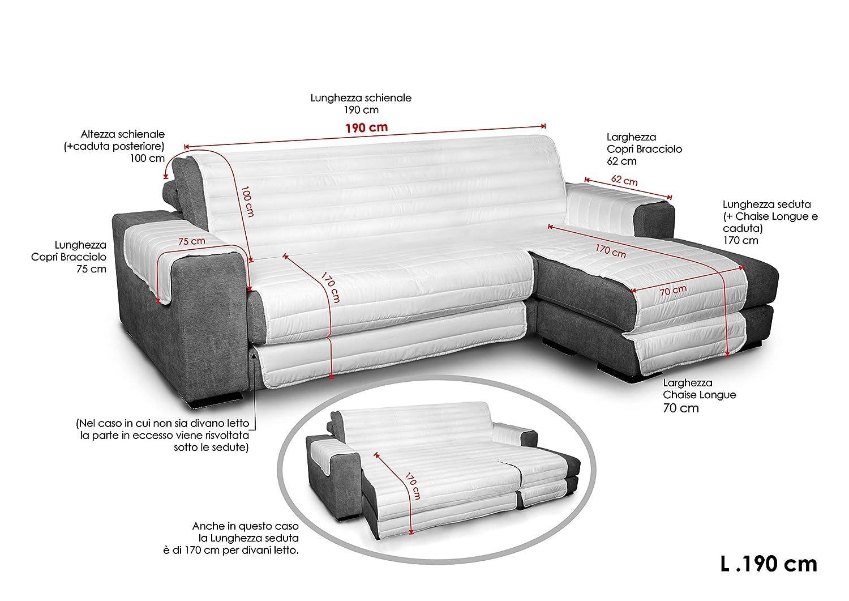 Datex Funda cubre sofà Elegant crema 190cm