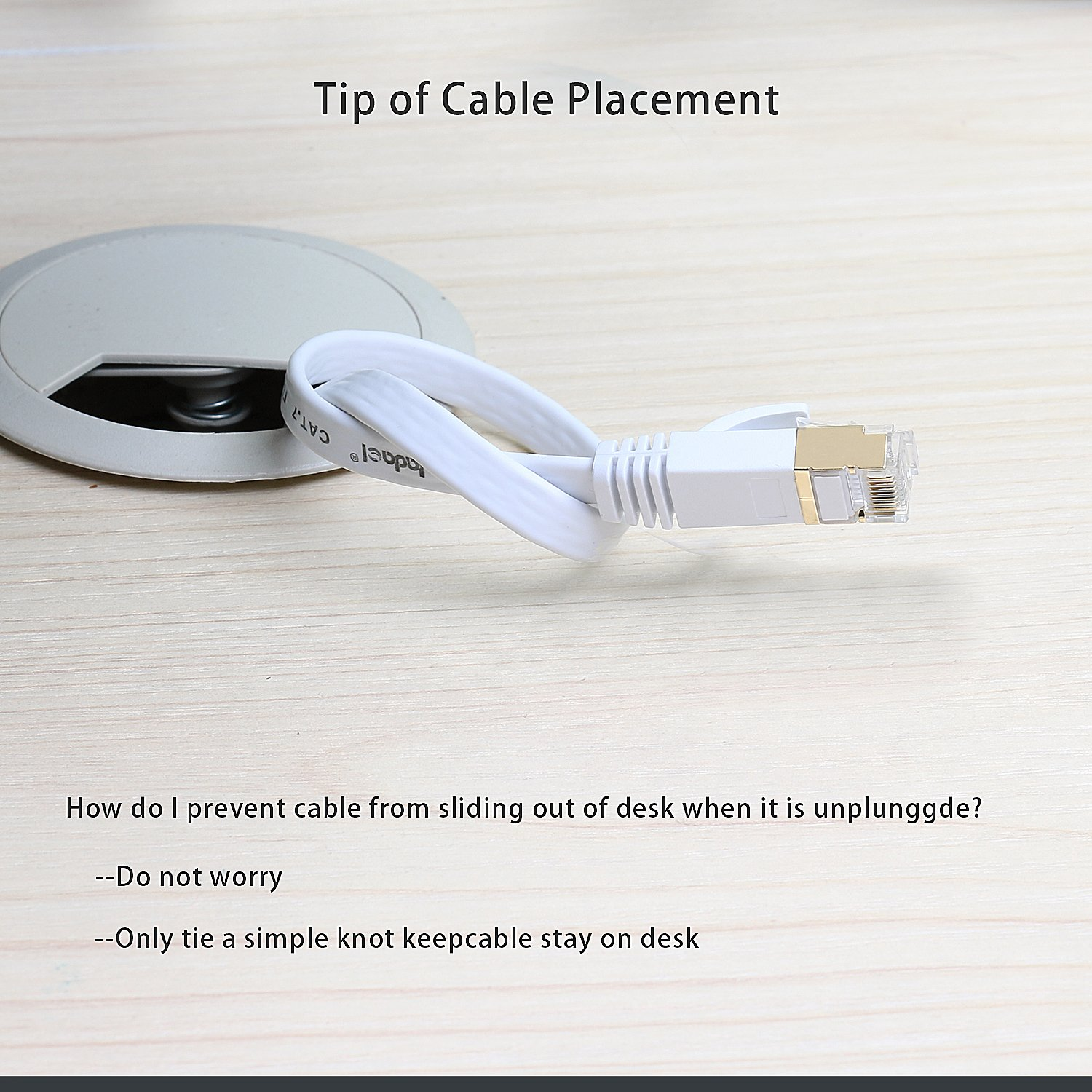 Jadaol Cat 7 Ethernet Cable 50 Ft White Flat Internet How To Make Rj45 Shielded Stp Computer With Snagless Connectors Feet 15