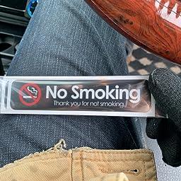 Amazon Seal Sticker S 禁煙ステッカー 2枚組 横長シンプルデザイン イエロー Sts No Smok F Yoko St Yel ステッカー デカール 車 バイク