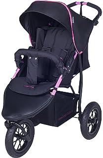 Carrito para niños de la marca Knorr-Baby, con tres ruedas y capota negro