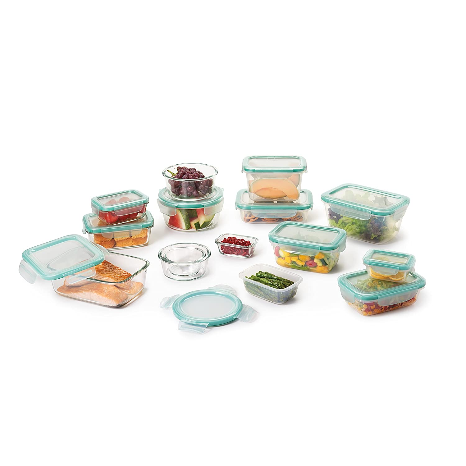 OXO Good Grips 30 Piece Smart Seal Glass & Plastic Container Set