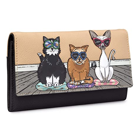 Yoshi - Monedero de Piel con Solapa para Gatos, diseño de ...