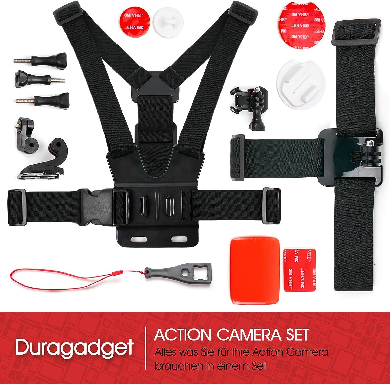 F/ür Rollei//Crosstour//GoPro//Akaso//Victsing//Victure Zubeh/ör Set /& Hartschalen-Etui F/ür Action Kameras A Geeignet u