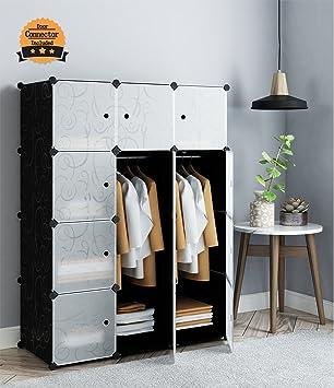 Merveilleux Tespo Portable Clothes Closet Wardrobe, DIY Modular Storage Organizer,  Sturdy Construction, 12 Deeper