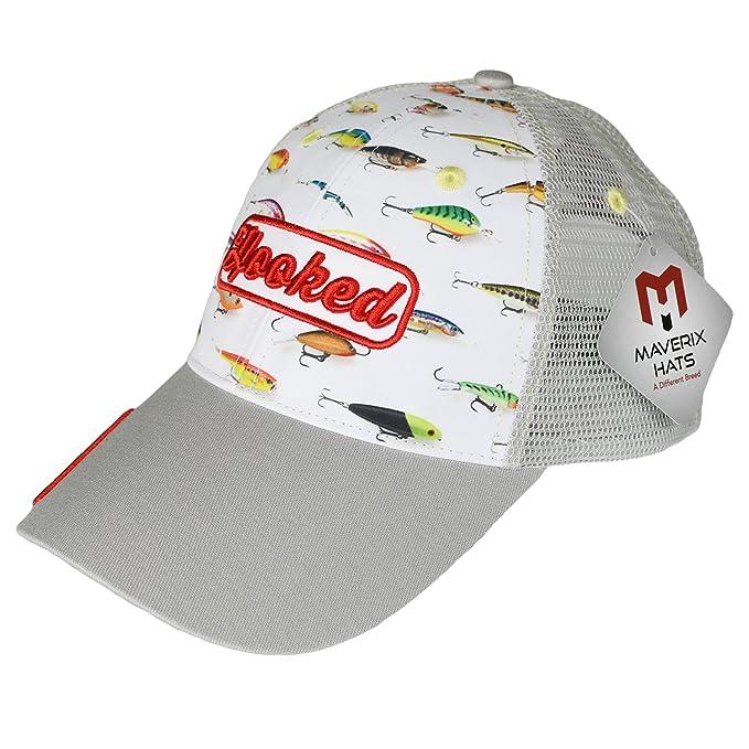 93246c69c60c1 Trucker Fishing Cap - 6 Panel Hat Cool Baseball Hats Freshwater Fish Fishing  Buddy Crappie Fishing