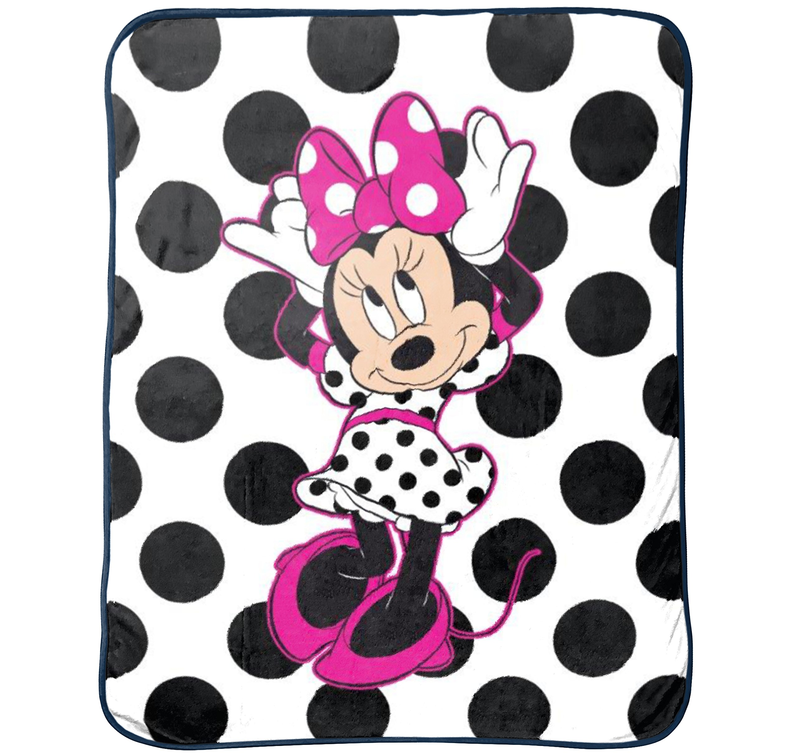 Disney Minnie Mouse All About Dots Silk Touch Throw,46 in X 60 in