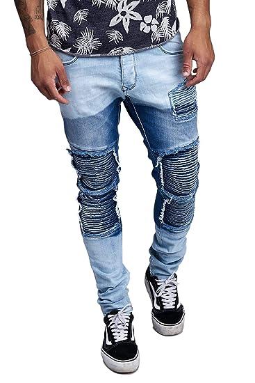 Jeans Hose Jeanshose Denim Slim Fit Used Design Destroyed