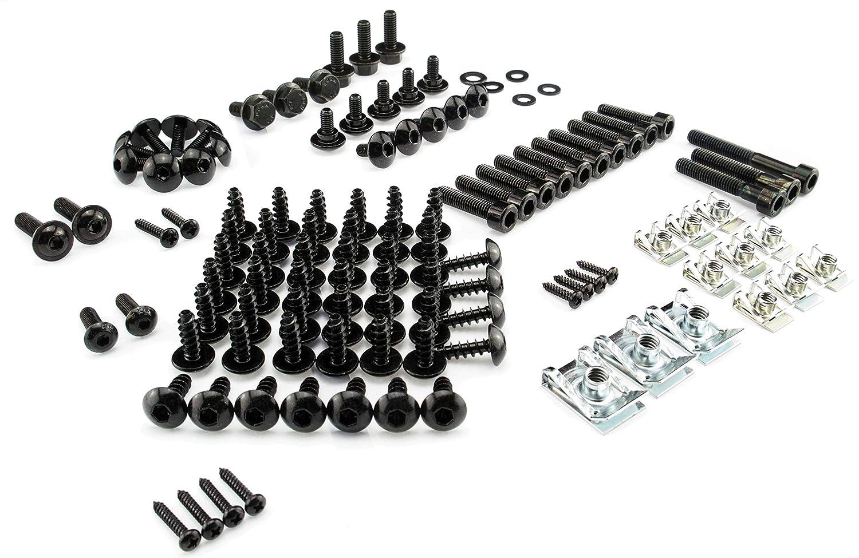 Clipse und Vario Schrauben MBK Nitro schwarz mit Clipsen neues Modell Yamaha Aerox Verkleidungsschrauben ab Baujahr 2013
