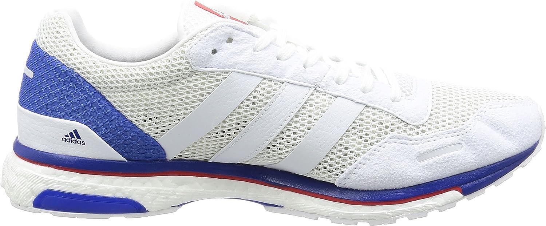adidas - Zapatillas de Running de Tela, sintético para Hombre Blanco Blanco, Color Multicolor, Talla 38 2/3 EU: Amazon.es: Zapatos y complementos