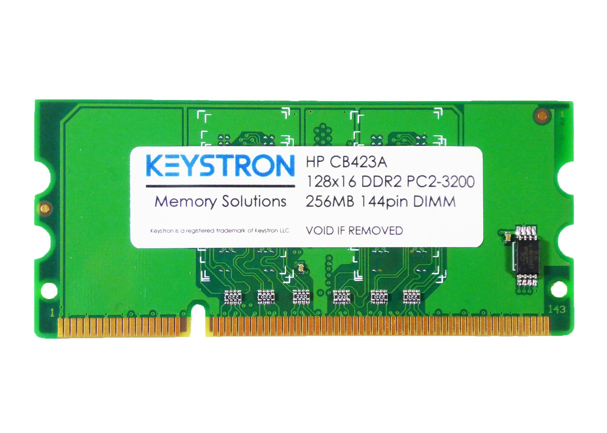 Keystron CB423A 256MB DDR2 144-pin DIMM Printer Memory for HP Laserjet CP2025x CP5225x CP5225dn Laser Jet Pro CP1525NW