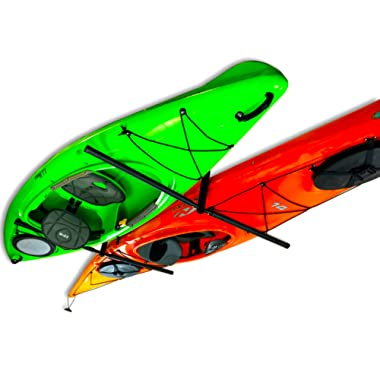 2 Kayak Ceiling Rack | Hi-Port 2 Storage Hanger Overhead Mount | Adjustable