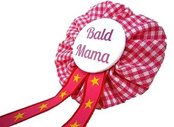 AnneSvea Orden - Bald Mama pink kariert Babyshower Babyparty Mom to be Geschenk Schwanger werdende Mutter