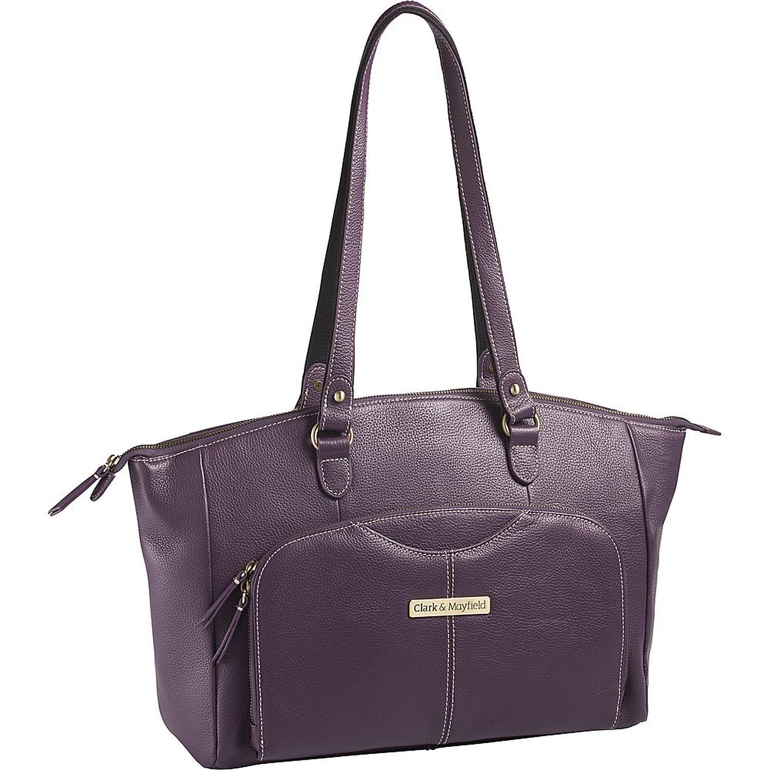 Clark & Mayfield Alder Leather 15.6 '' Laptop Handbag (Purple) by Clark & Mayfield (Image #1)