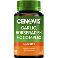 Cenovis Garlic, Horseradish + C Complex - Reduces the severity and duration of common cold symptoms, 120 Capsules