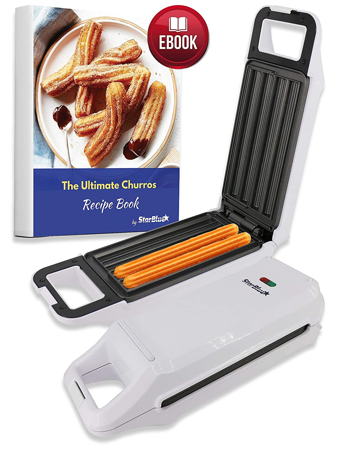 Churro Maker by StarBlue with FREE Recipe e-Book – Cook Healthy and Oil-free Churros in just minutes AC 110-120V 50 60Hz 760W