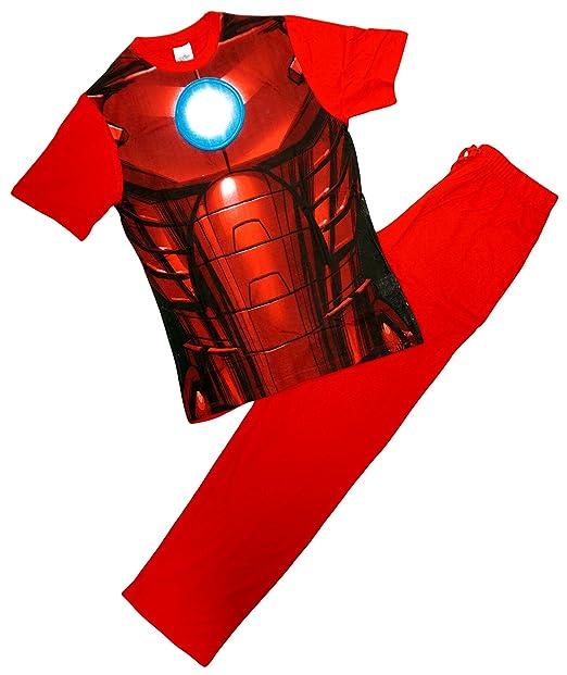 Camiseta de pijama para hombre Ironman con diseño de armadura, hecha de algodó
