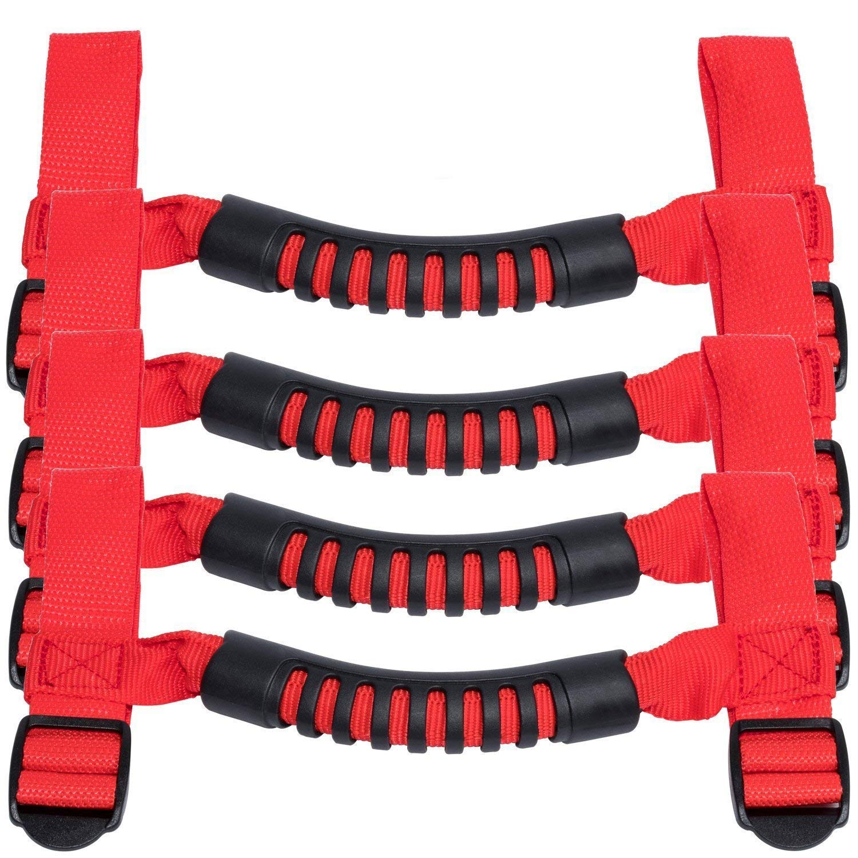 4 x Roll Bar Grab Handles Grip Handle for Jeep Wrangler YJ TJ JK JK JL JLU Sports Sahara Freedom Rubicon X /& Unlimited 1955-2019