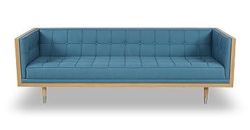 Incredible Kardiel Woodrow Mid Century Modern Box Sofa Urban Ash Twill Ash Cjindustries Chair Design For Home Cjindustriesco