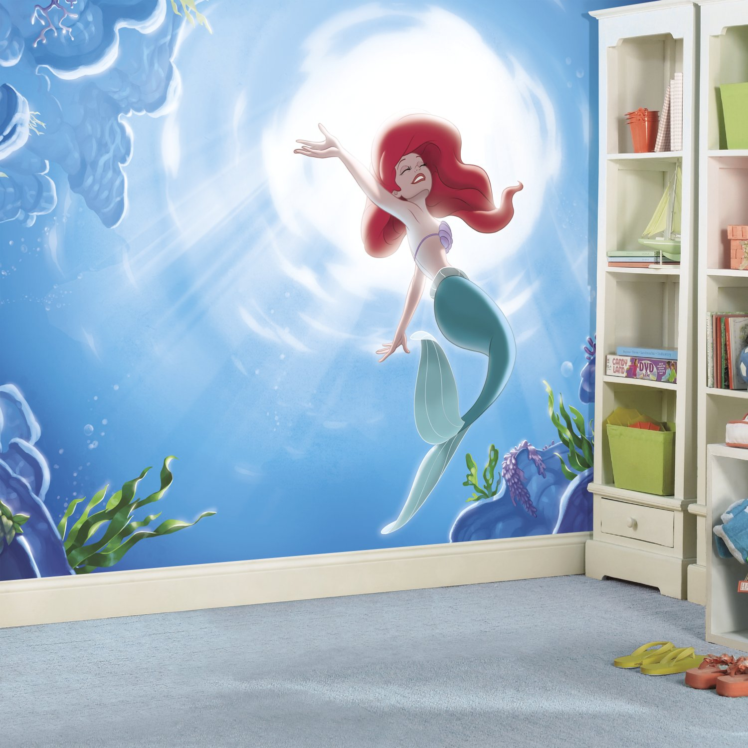 RoomMates Disney Princess The Little Mermaid 'Part Of Your World' Prepasted, Removable Wall Mural - 6' X 10.5' by RoomMates (Image #1)