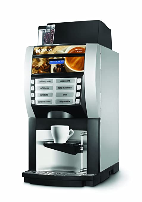 Grindmaster-Cecilware Korinto 1/2 Super Automatic Espresso Brewer, Silver and Black