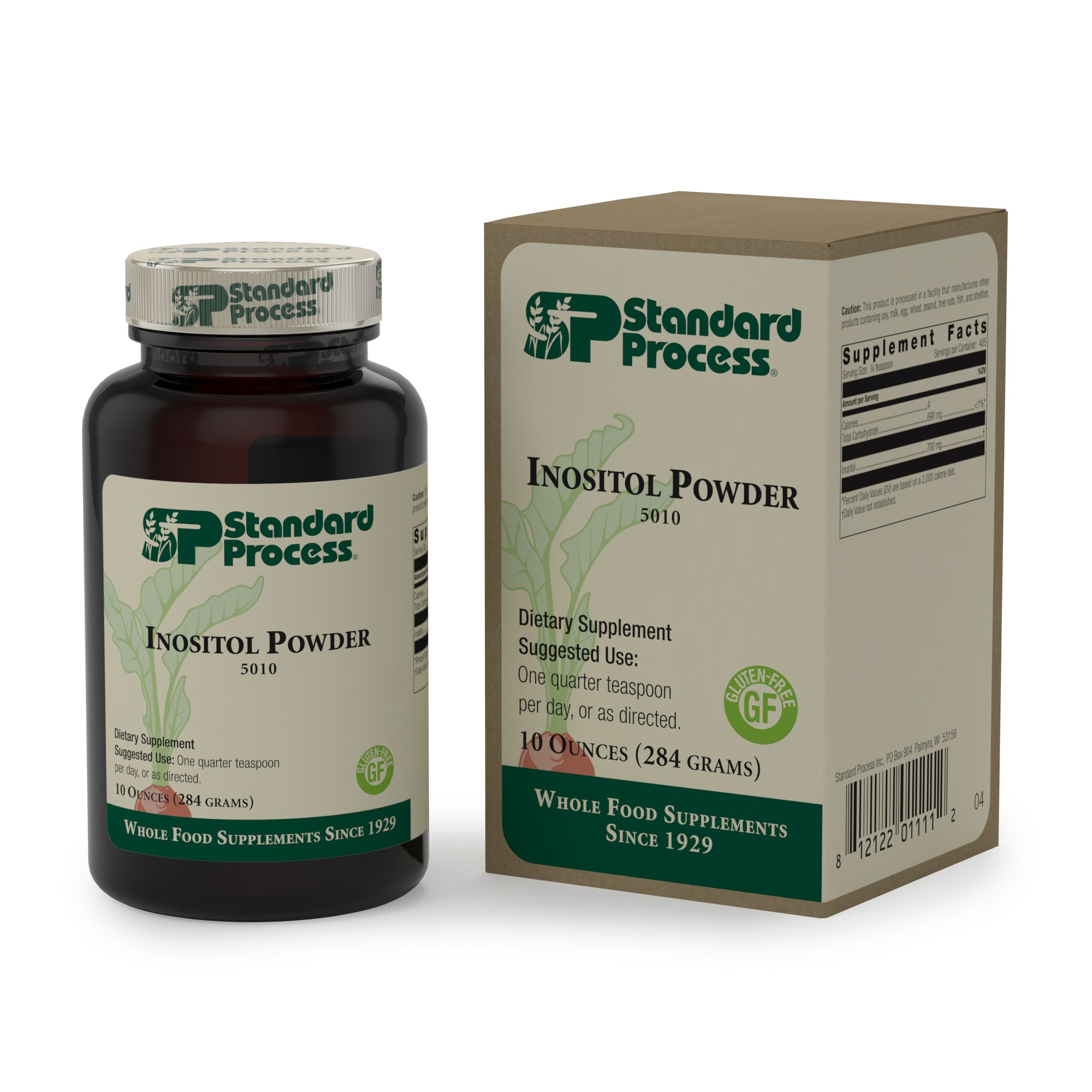 Standard Process - Inositol Powder - Cardiovascular and Nervous System Supplement, Supports Healthy Cell Membrane Integrity, Normal Liver Fat Processing, Gluten Free and Vegetarian - 10 oz Powder