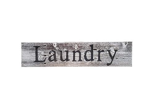 Amazon.com: Letrero de lavandería – Decoración rústica de ...