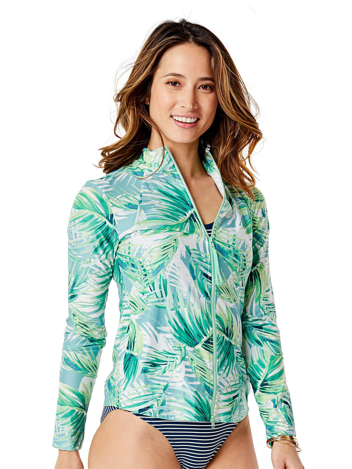 CARVE Designs RGLS13 Lake Sunshirt White Palms MD by CARVE