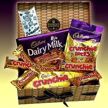 Cadbury Crunchie Chocolate Lovers Treasure Hamper Gift Box - Bars, Rocks, Biscuits & Dairy