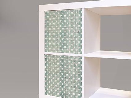 yourdea – decorativo para muebles Ikea Expedit/Kallax Armario Muebles – Cómoda estantería con diseño de estrellas color verde lima: Amazon.es: Iluminación
