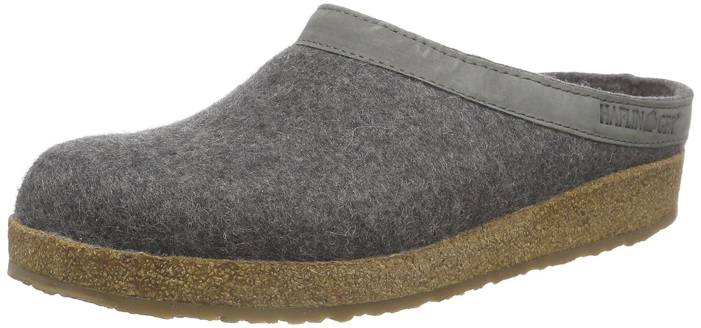 Haflinger 713001_unisex, Pantofole non imbottite Unisex adulto Unisex – Adulto Grigio (Grau (4 Anthrazit))