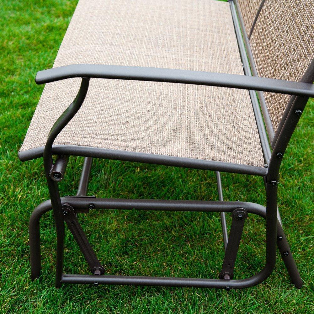 Naturefun Patio Swing Glider Bench Chair Garden Glider Rocking Loveseat Chair Ebay